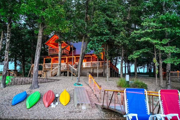 Remote Cabin on 30 Acres w/ Dock & Private Lake!