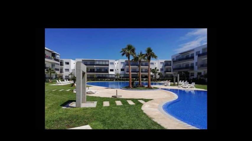 Joli Appartement T 3 à Blanca Beach Sidi Rahal