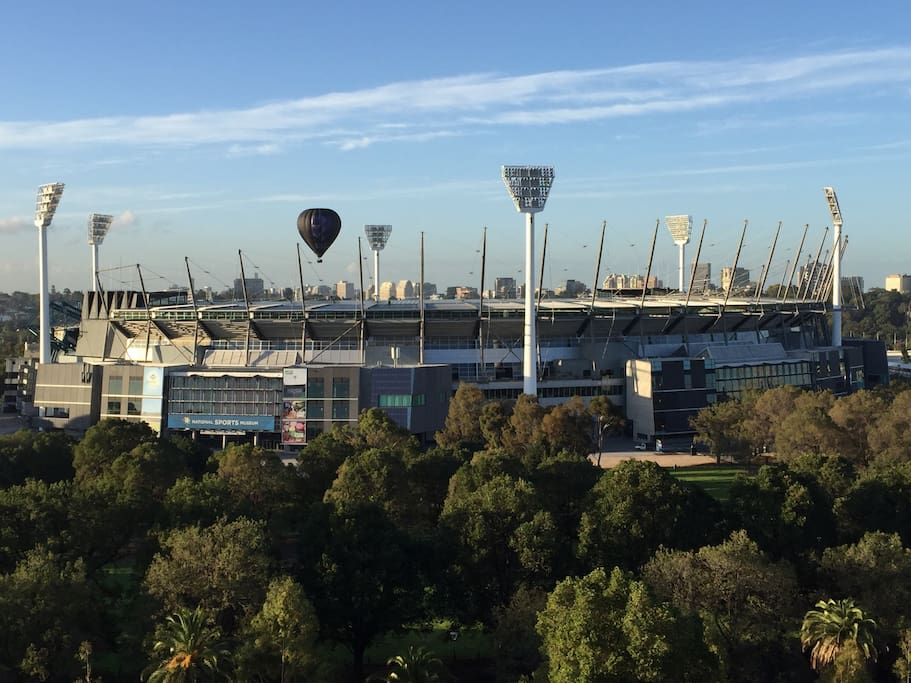 MCG view from apartment