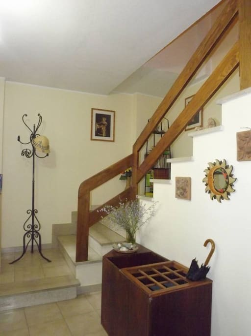 scale che conducono alla camera