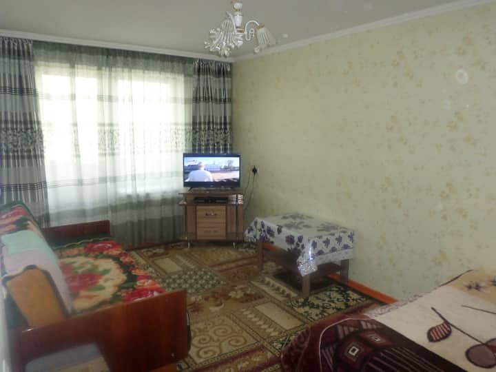 уютная теплая 1 к. квартира в центре г. Каракол