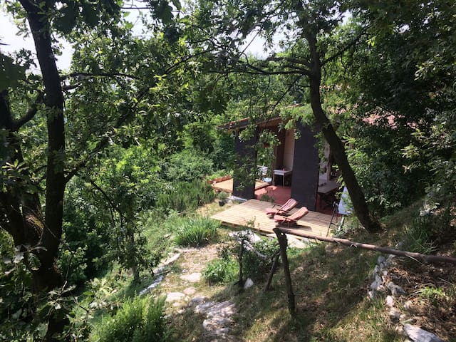 Panoramic refuge in prosecco hills