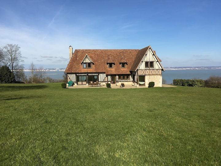 Maison normande - vue exceptionnelle mer