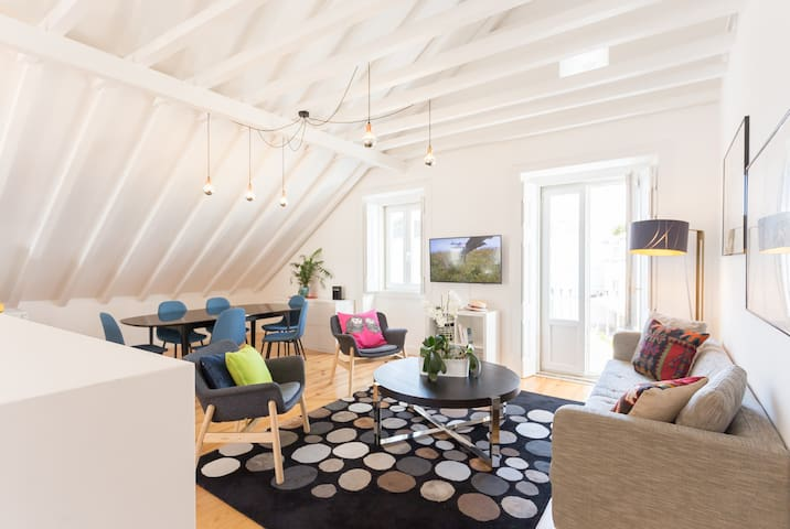 Appartement 120m2 Cascais, T3, terrasse au sud