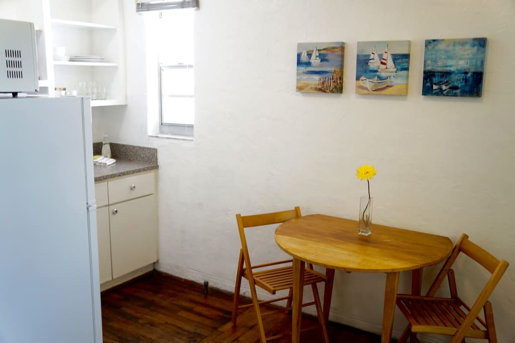 Our cozy kitchenette area