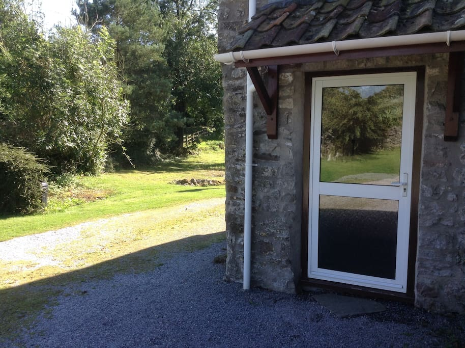 Your own entrance to the annexe. You can park next to it.