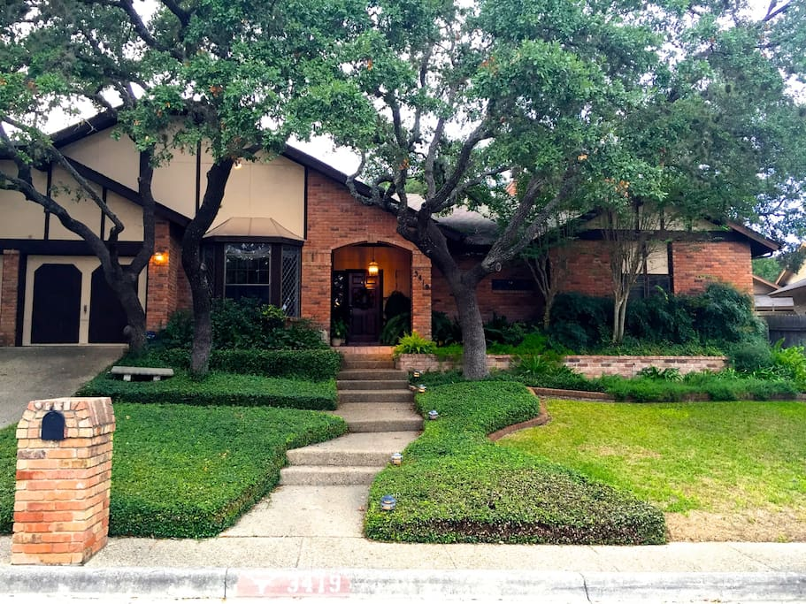 Our Alamo City home viewed from the street.