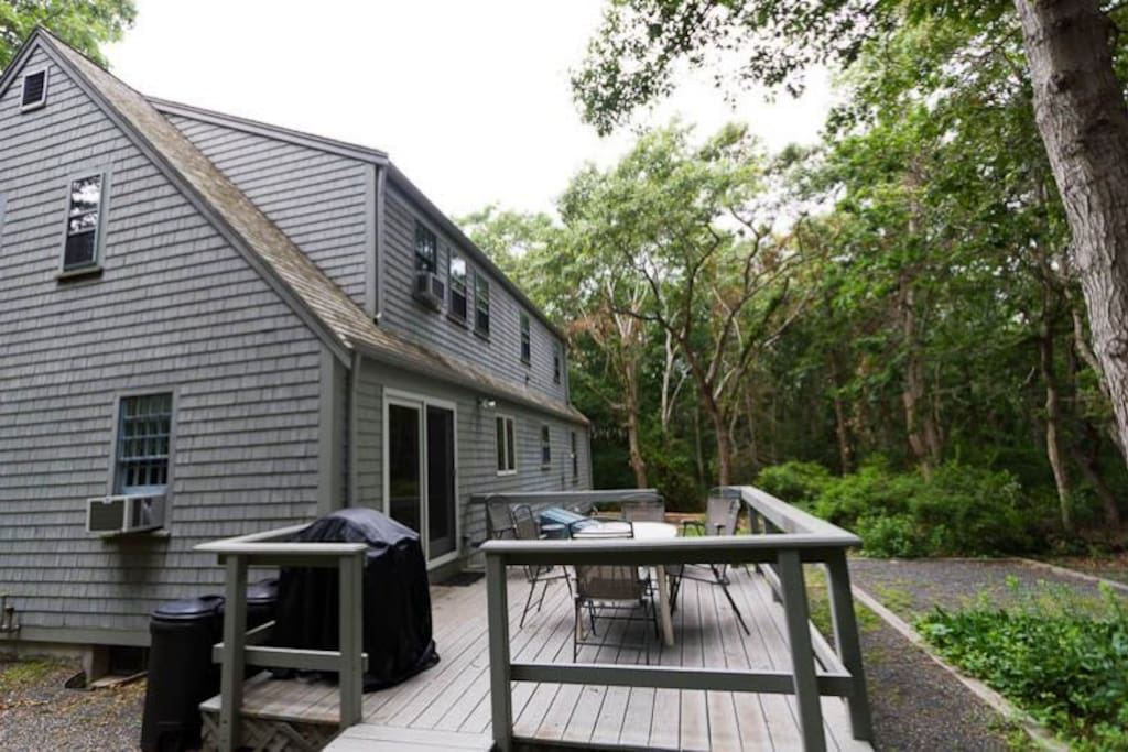 Side view of home showing deck