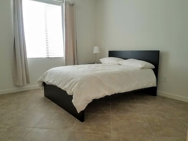 Comfortable private room with full size bed