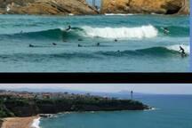 Les plages de Biarritz et d'Anglet