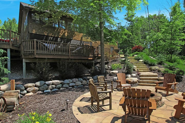 Secluded, dog-friendly home on 10 wooded acres w/ a private hot tub & game room