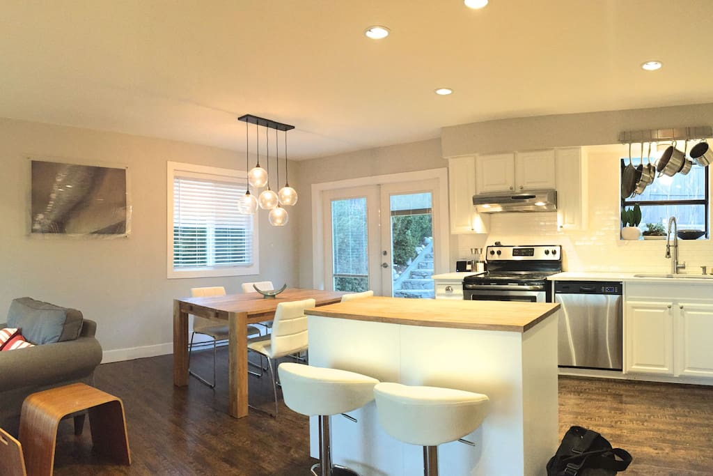 kitchen and dining - open concept.