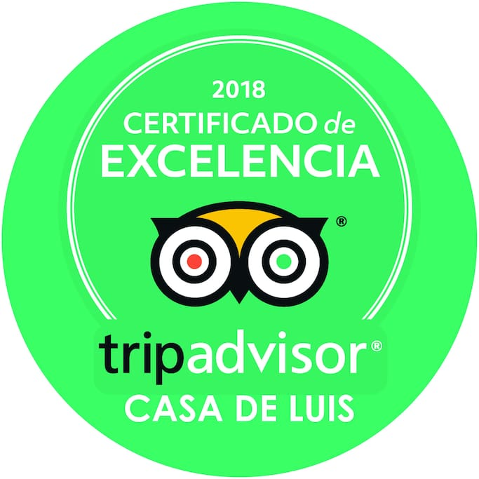 Our Certificade of Excellence of Tripadvisor 2018