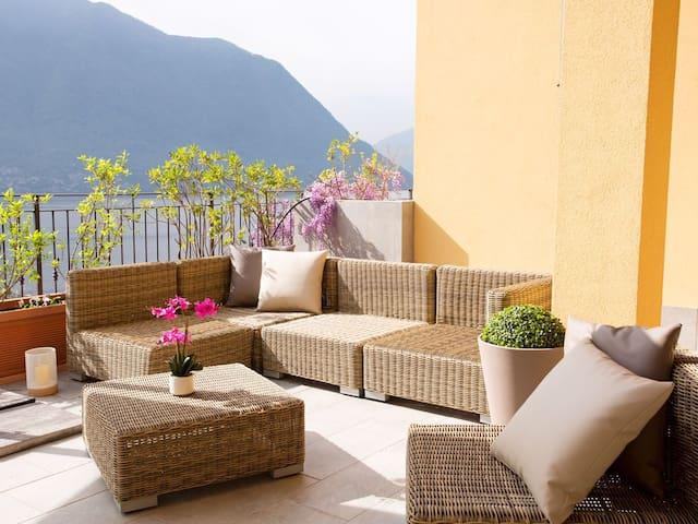 Beautiful terrace for relaxing