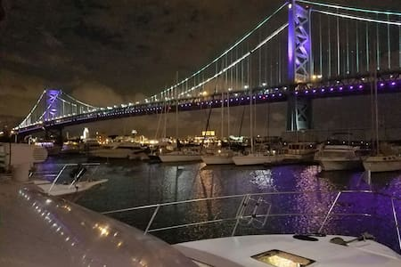 2bd 2bth heated yacht, Conv Cntr +free parking - Philadelphia - Boat