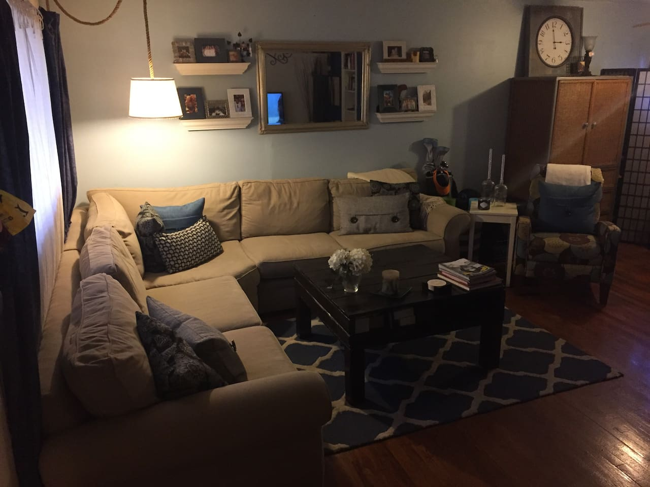 Living room looking out of the bedroom