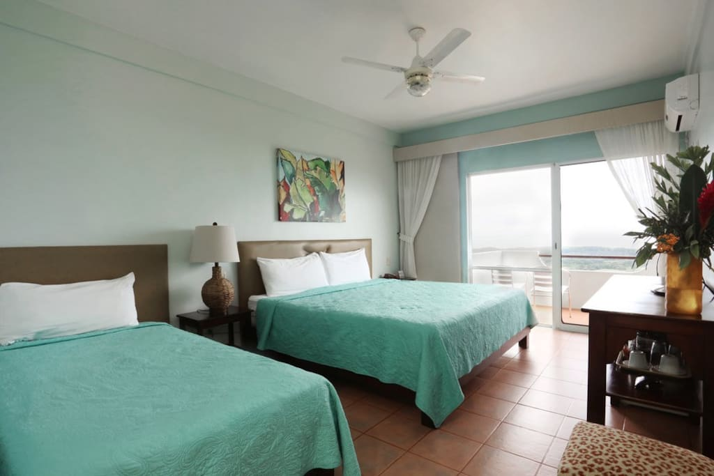 Each room is spacious and has a balcony with incredible view!