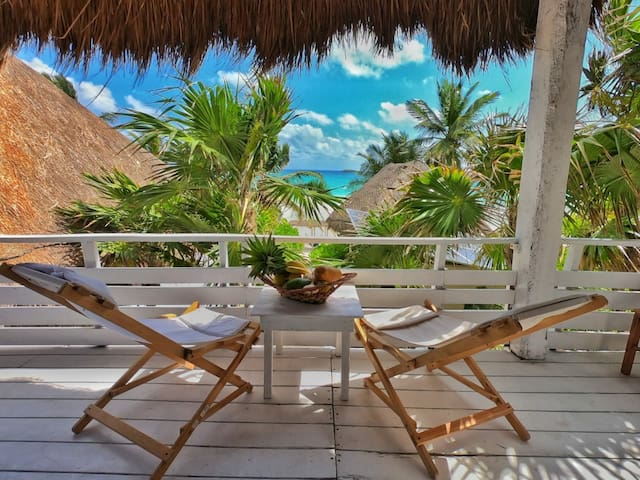 Beachfront Cabanas - Best location in Tulum