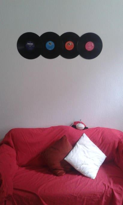 Le canap' vinyle !