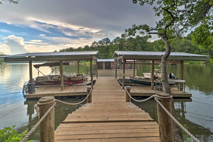 NEW! Rustic-Chic Riverfront Home w/ Dock & Canoes!