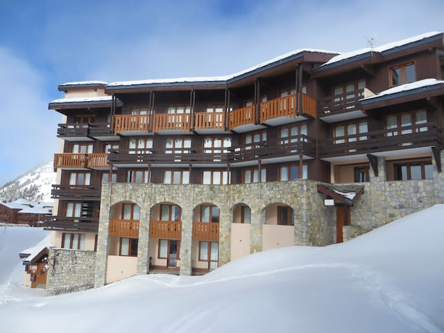 Belle Plagne 2 k. appartement direct aan ski-piste - Mâcot-la-Plagne - Appartement