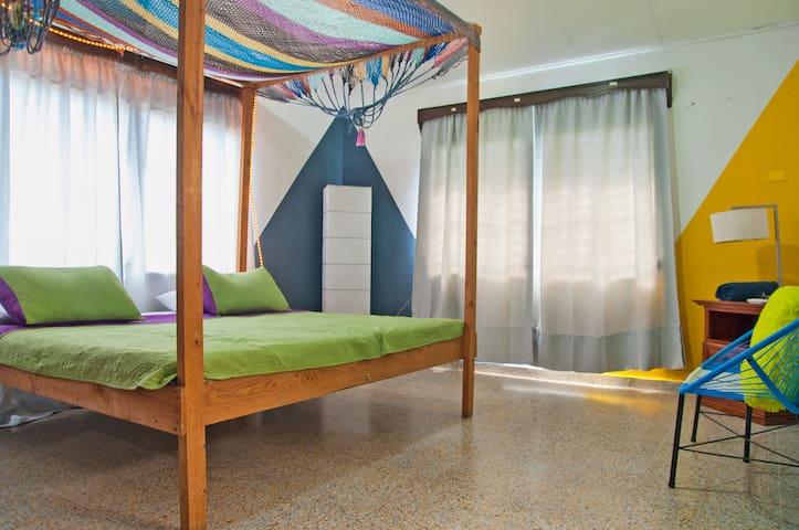 Spacious King Room @ San Pedro's #1 Hostel!