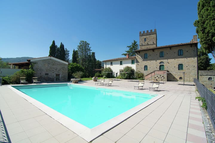 Lovely estate not far from Florence, on a hill with olives trees and cypresses.
