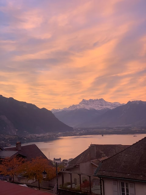 Cosy appartement with nice view - Montreux