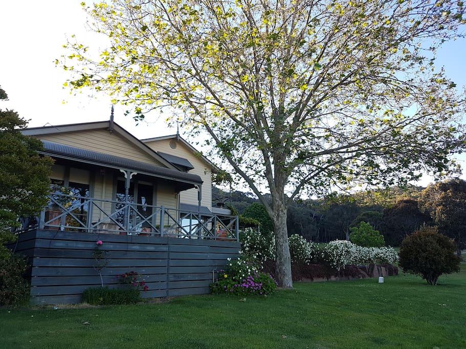 Blue Range Homestead in Spring