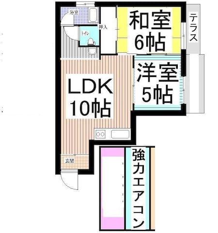 5名6名マンスリーウイークリー駐車場無料、駅に近い林間田園マンション - Hashimoto - Apartamento