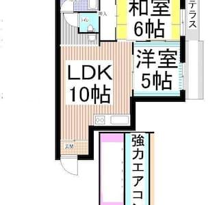 5名6名マンスリーウイークリー駐車場無料、駅に近い林間田園マンション - Hashimoto