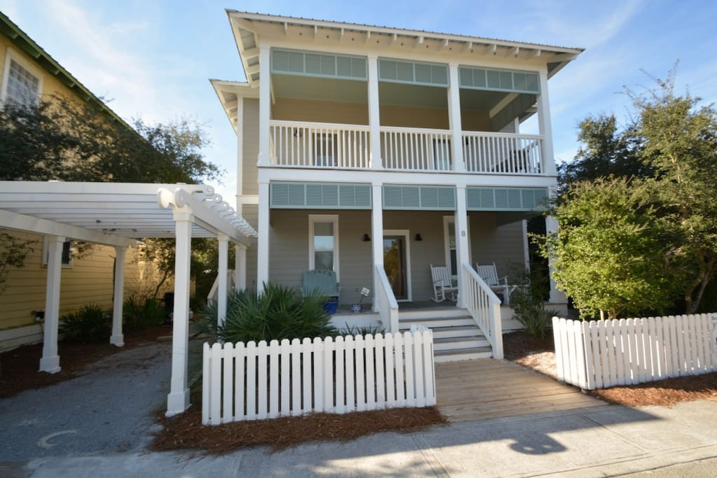 Beach Breeze is a beautiful three story home located in the Summer's Edge Community, less than two miles from the Seaside Community!