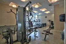 Fitness facility in the building