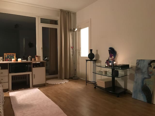 Helle 1 Zimmerwohnung mit schöner Aussicht. - Hamburg - Apartament