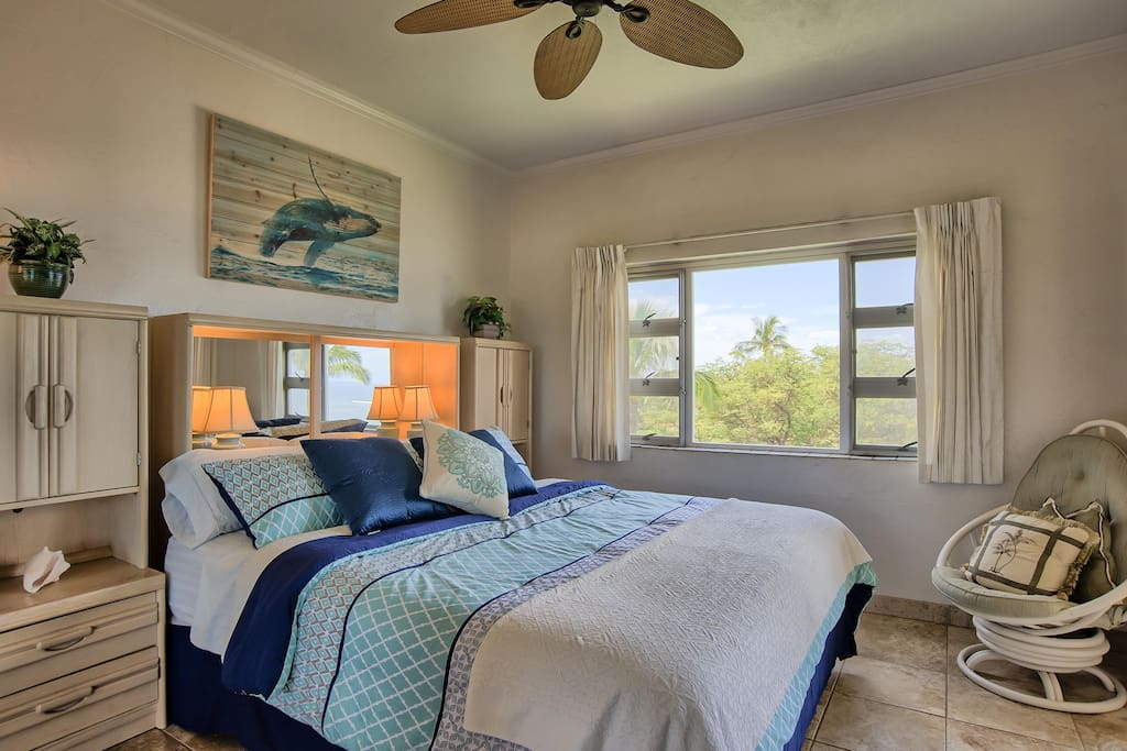 Ocean view from your king sized bed!