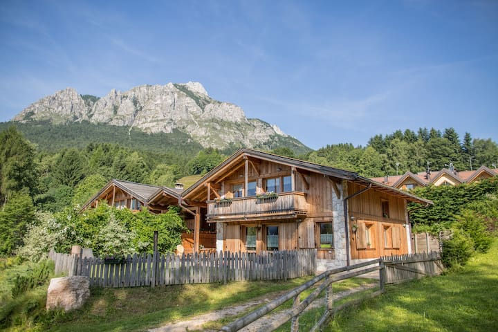 Baita Mandrett Chalet, warm of the hut. - Province of Trento - Casa de campo