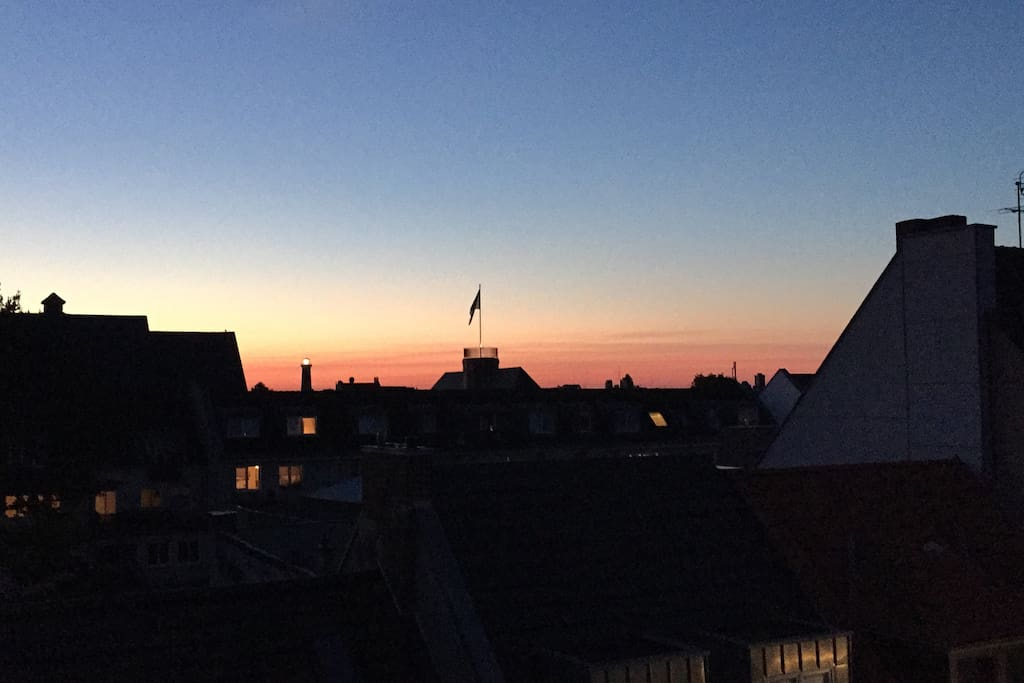 Sunsetview over Ehrenfeld from the Kitchenwindow