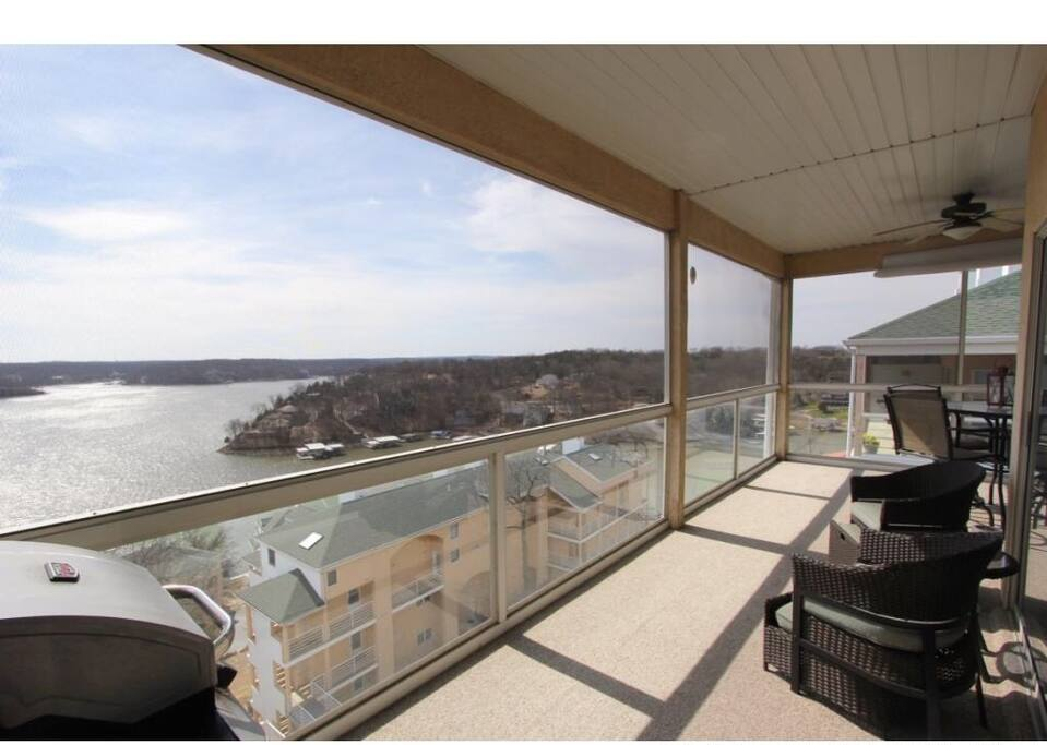 Spectacular screened in deck with amazing view!