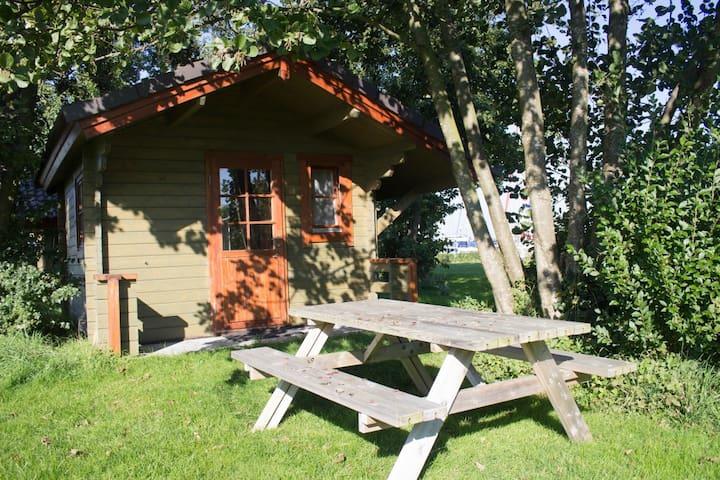 """Wooden cabin #08 at """"Het Veerse Meer"""""""