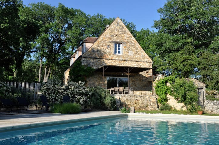 Perigord Lascaux IV house private warmed pool - Coly - Huis