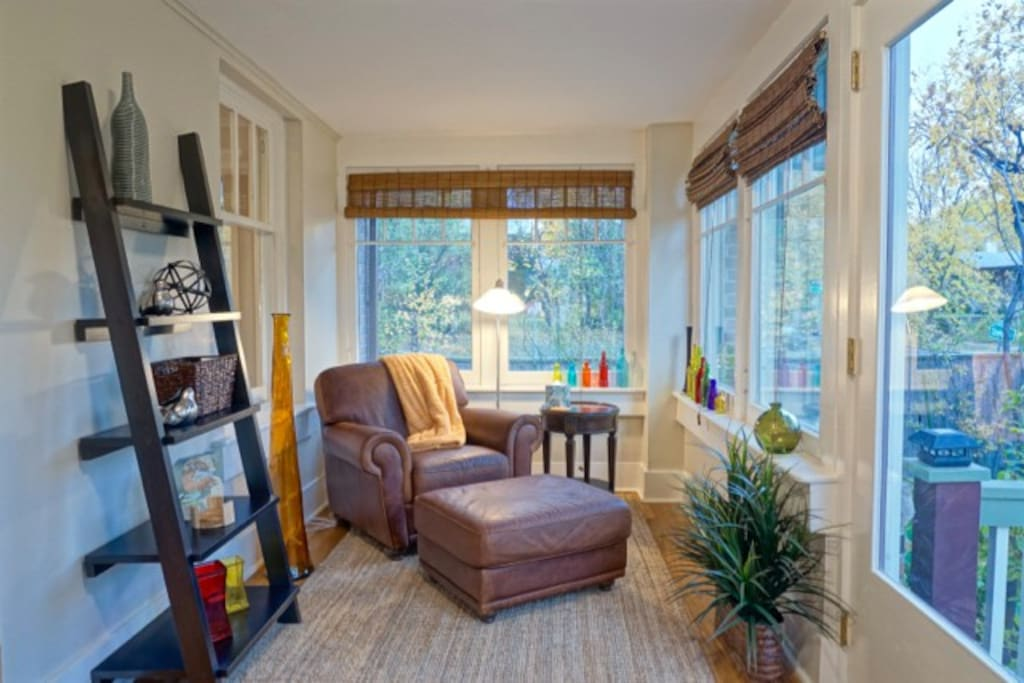 Take a seat and read a book in your home away from home.