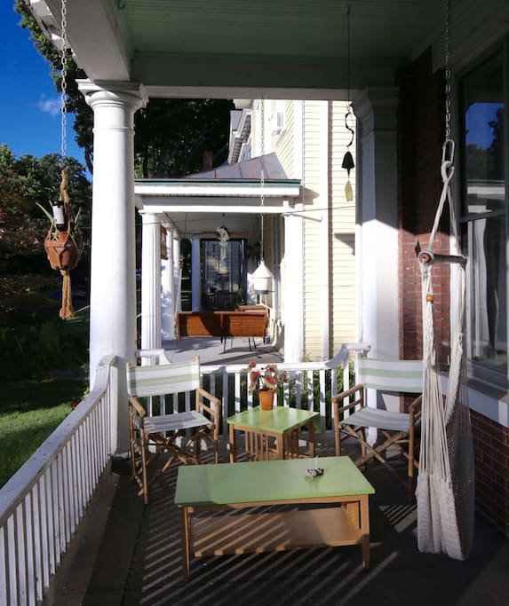 Perfect front porch to relax and enjoy the sunset, stretch out in our hammock and enjoy the blue sky or magical Kentucky rain.