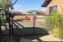 Side fence on backyard