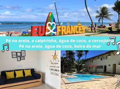 Apartamento a 150 m da melhor praia de Alagoas