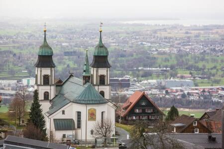 Ebenerdige Ferienwohnung mit Garten und Seeblick - Bildstein - อพาร์ทเมนท์