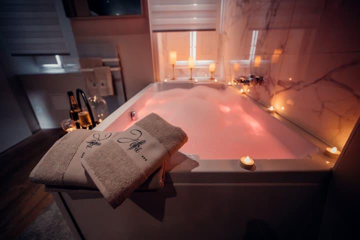 Nuit romantique hyper centre spa et champagne