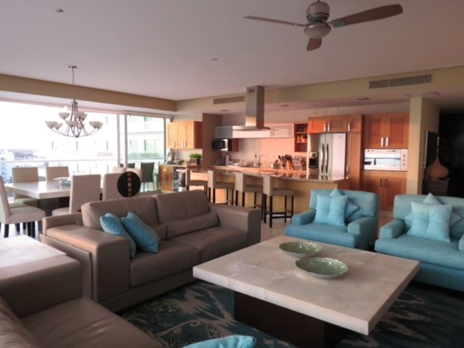 Large open floor plan - Living room, Kitchen and Dining