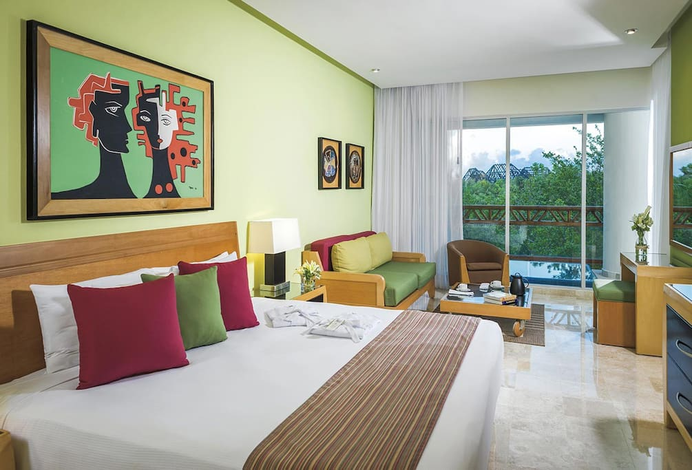 A view of the master room at The Grand Mayan