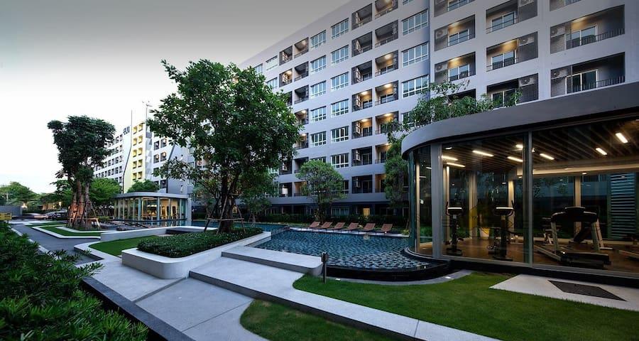 El D曼谷Bangkok,近Bts,免费bts接驳,舒适度假公寓