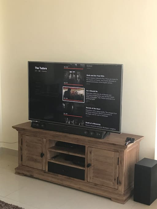 Smart tv with Netflix PS4 etc.. in lounge